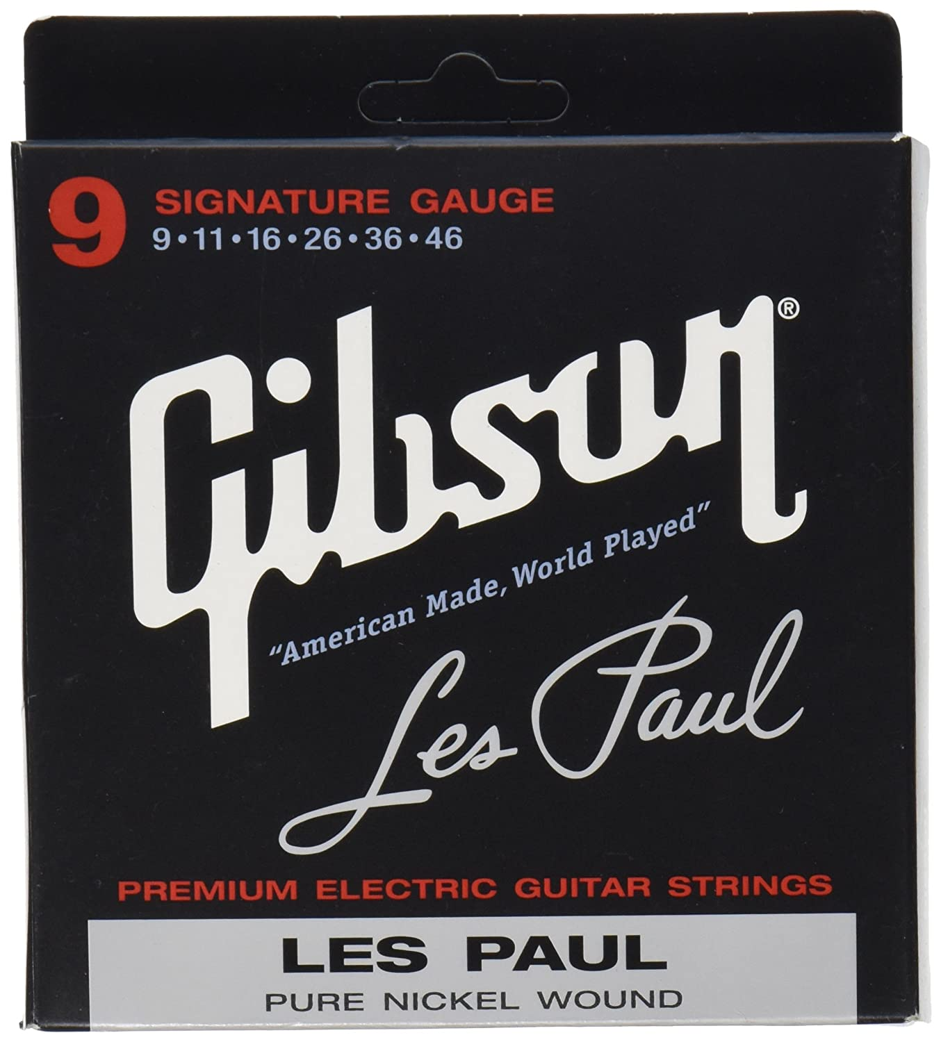 Gibson Gear SEG-LPS Nickel Plated Electric Guitar Strings, Extra Light