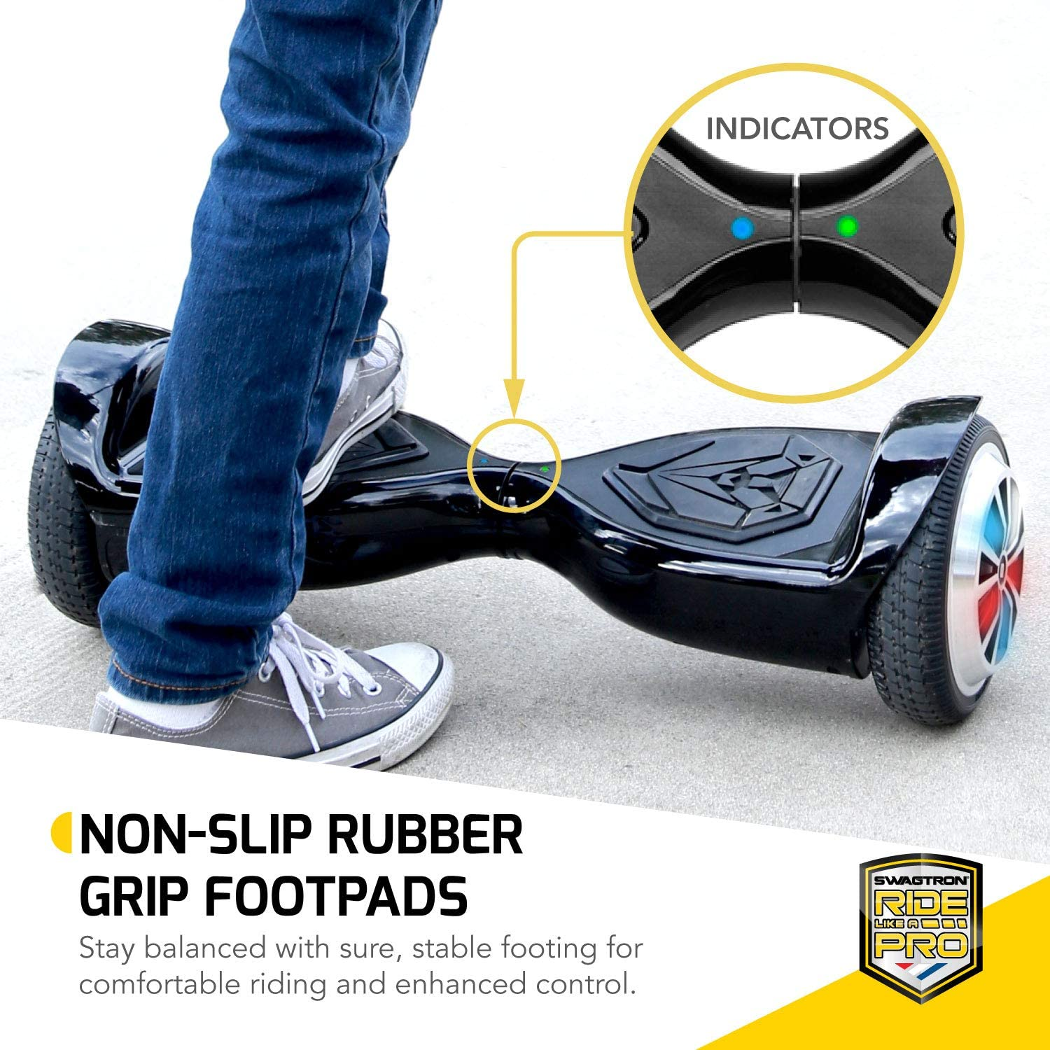 Swagtron Swagboard Hoverboard for Kids and Young Adults - 3