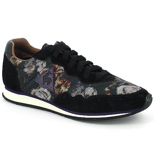 Milos Vintage Floral W Winter Black-Zapatillas para Mujer, diseño de Le Coq Sportif
