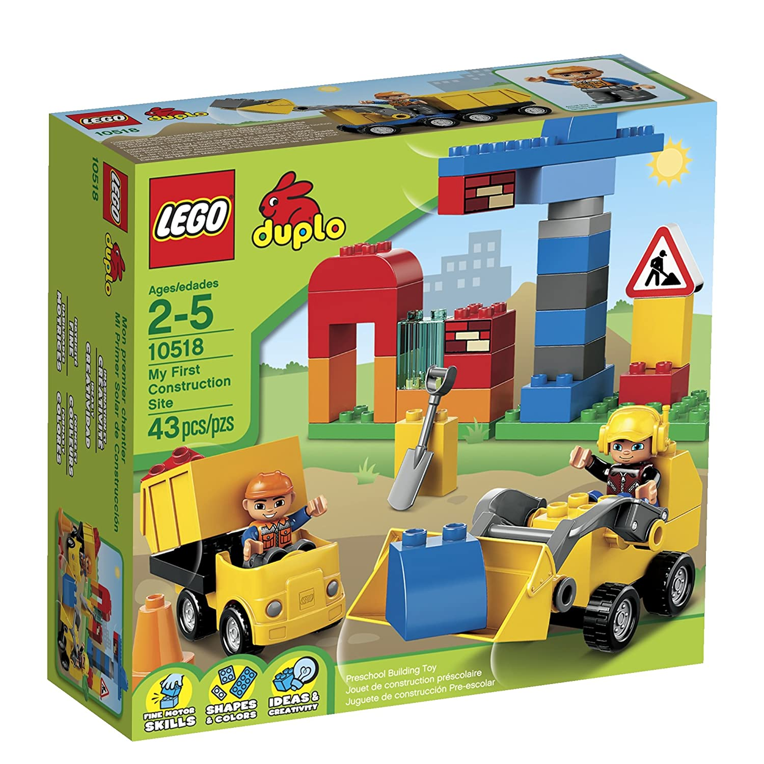 Amazon LEGO DUPLO My First Construction Site Toys & Games