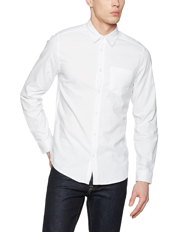 TALLA S. New Look Long Sleeve Brushed Twill Camisa para Hombre