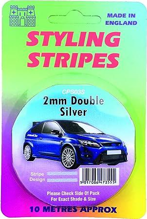 CAR PIN STRIPE 6MM SILVER STYLING STRIPE BRITISH MADE