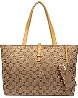 ZENTEII Women Faux Synthetic Leather Handbag Tote