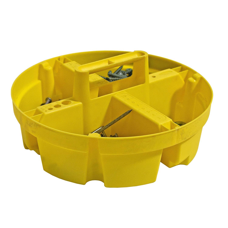 Bucket Boss Bucket Stacker Small Parts Tray in Yellow 15051