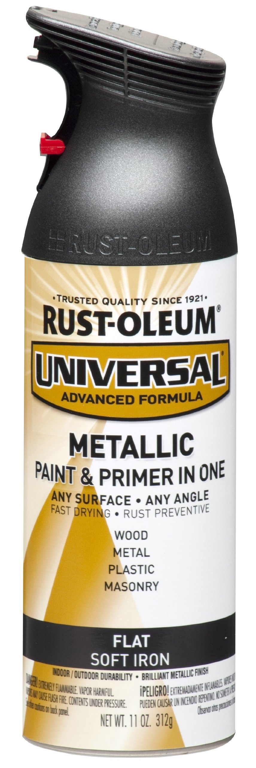 Rust-Oleum 271473 Universal All Surface Spray Paint, 11 oz, Metallic, Flat Soft Iron