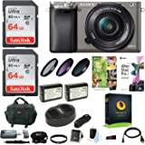 Sony Alpha a6000 Camera w/ Lens, Accessory, and Software Bundle (Single Lens Bundle)