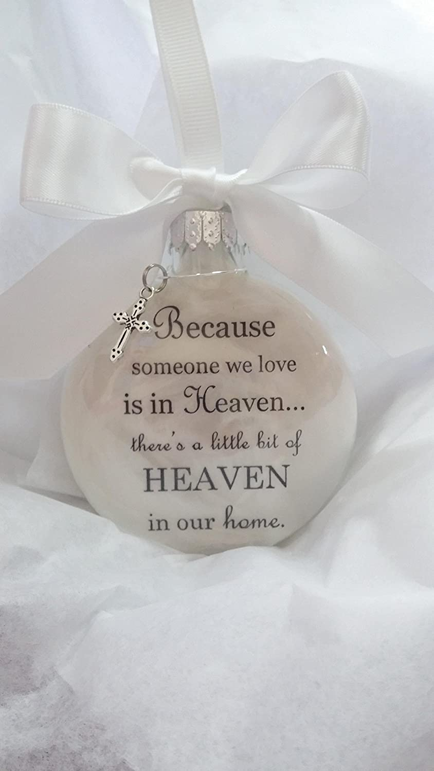 Amazon.com: Memorial Christmas Ornament - Because Someone We Love is ...