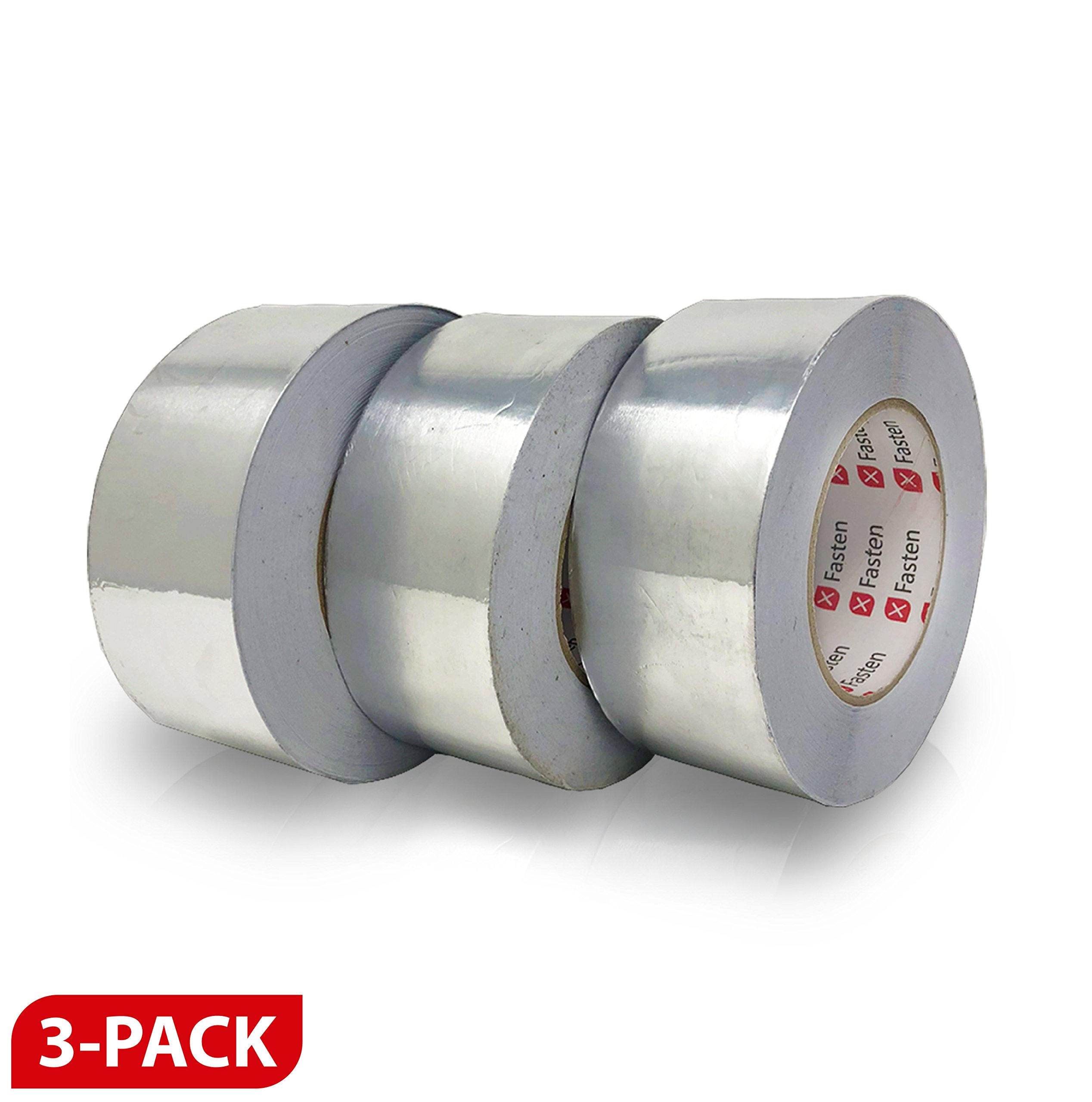 XFasten Professional Aluminum Foil Tape, 3.6 mil (2''x55Yds (3-Pack)) by XFasten