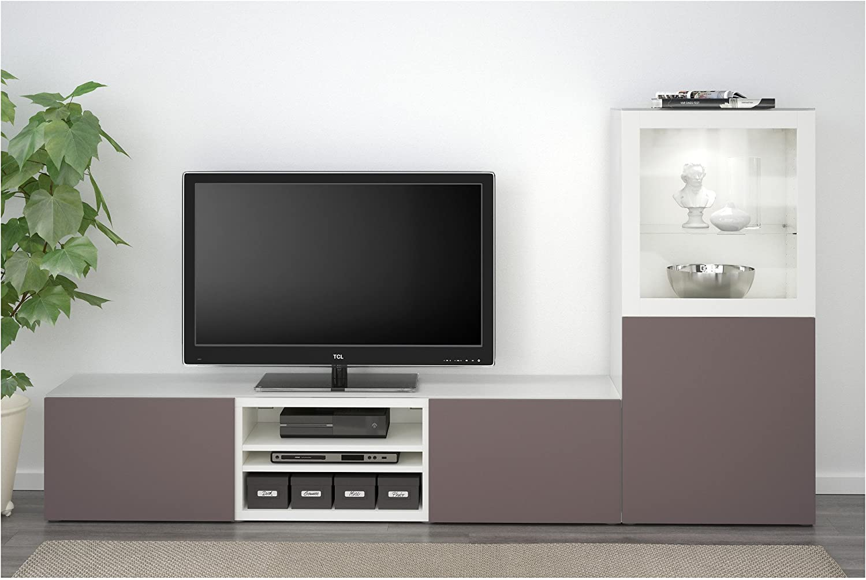 Zigzag Trading Ltd IKEA BESTA - combinación de almacenaje de la TV/Puertas de Vidrio Blanco/Vidrio Transparente de Color marrón Oscuro valviken: Amazon.es: Hogar