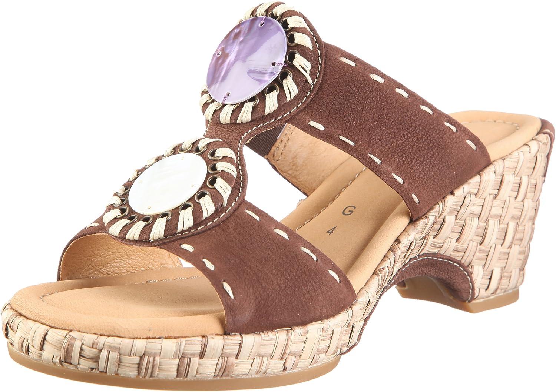 Gabor Shoes Gabor Comfort 22.740.45 - Zuecos de cuero nobuck para mujer, color marrón, talla 44