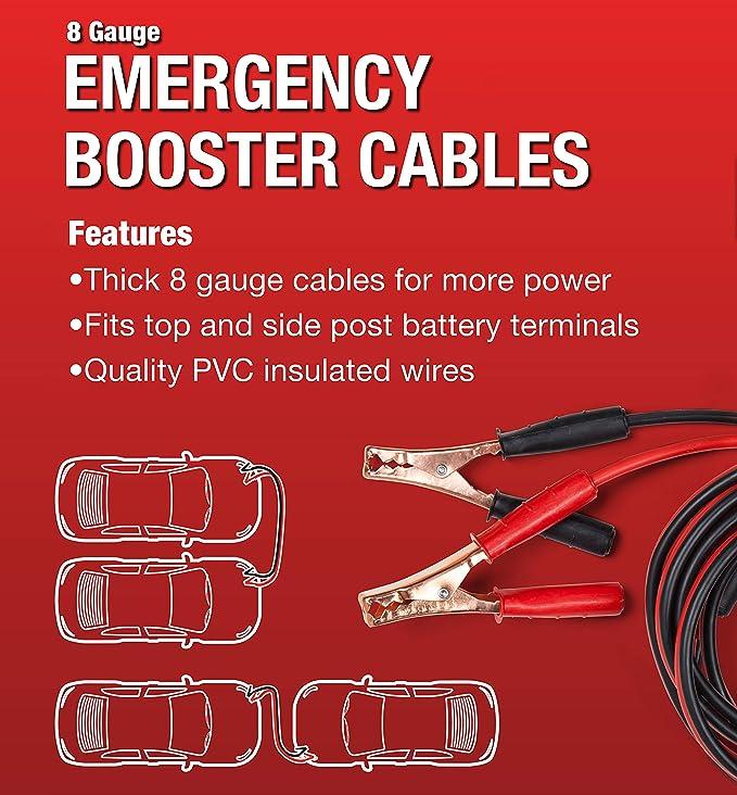 AAA 4324AAA Medium Duty 12 8 Gauge Booster Cable Lifeline First Aid