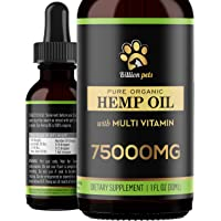 Billion Pets - Hemp Oil for Dogs and Cats - Hemp Oil Drops with Omega Fatty Acids - Hip and Joint Support and Skin…