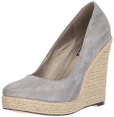 183ce8922f7 Michael Antonio Women s Anabel-SNK Wedge Sandal Pewter 10 ...