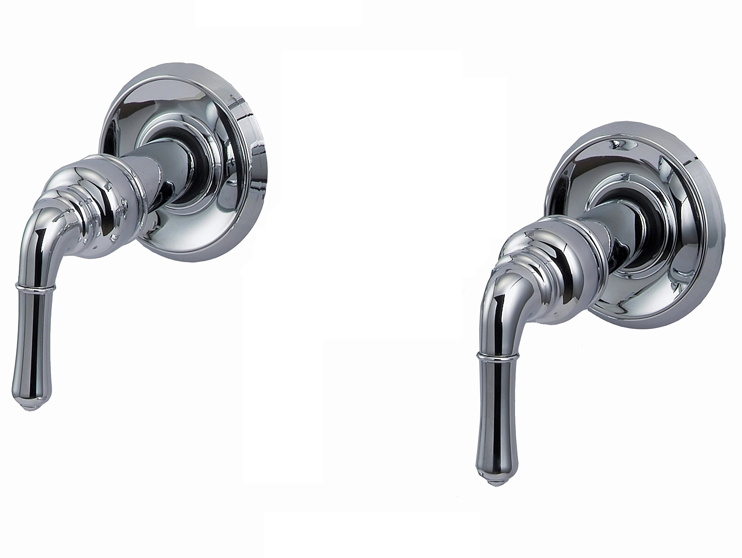 Trim Kit for 2-handle Shower Valve, Fit Delta Washerless Shower, Chrome Plated -By Plumb USA 38821 by PlumbUSA