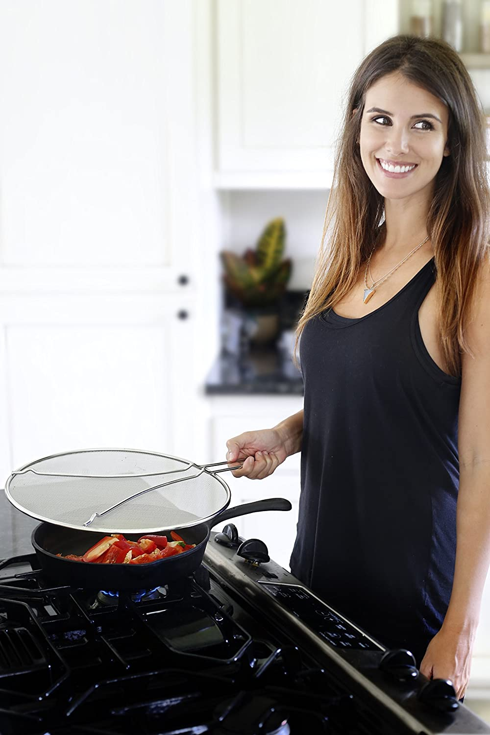 Splatter Guard for Cooking Protects Skin from Burns Stops 99/% of Hot Oil Splash LiveFresh Premium Grease Splatter Screen for Frying Pan 13 Iron Skillet Lid Keeps Kitchen Clean LF2015SS