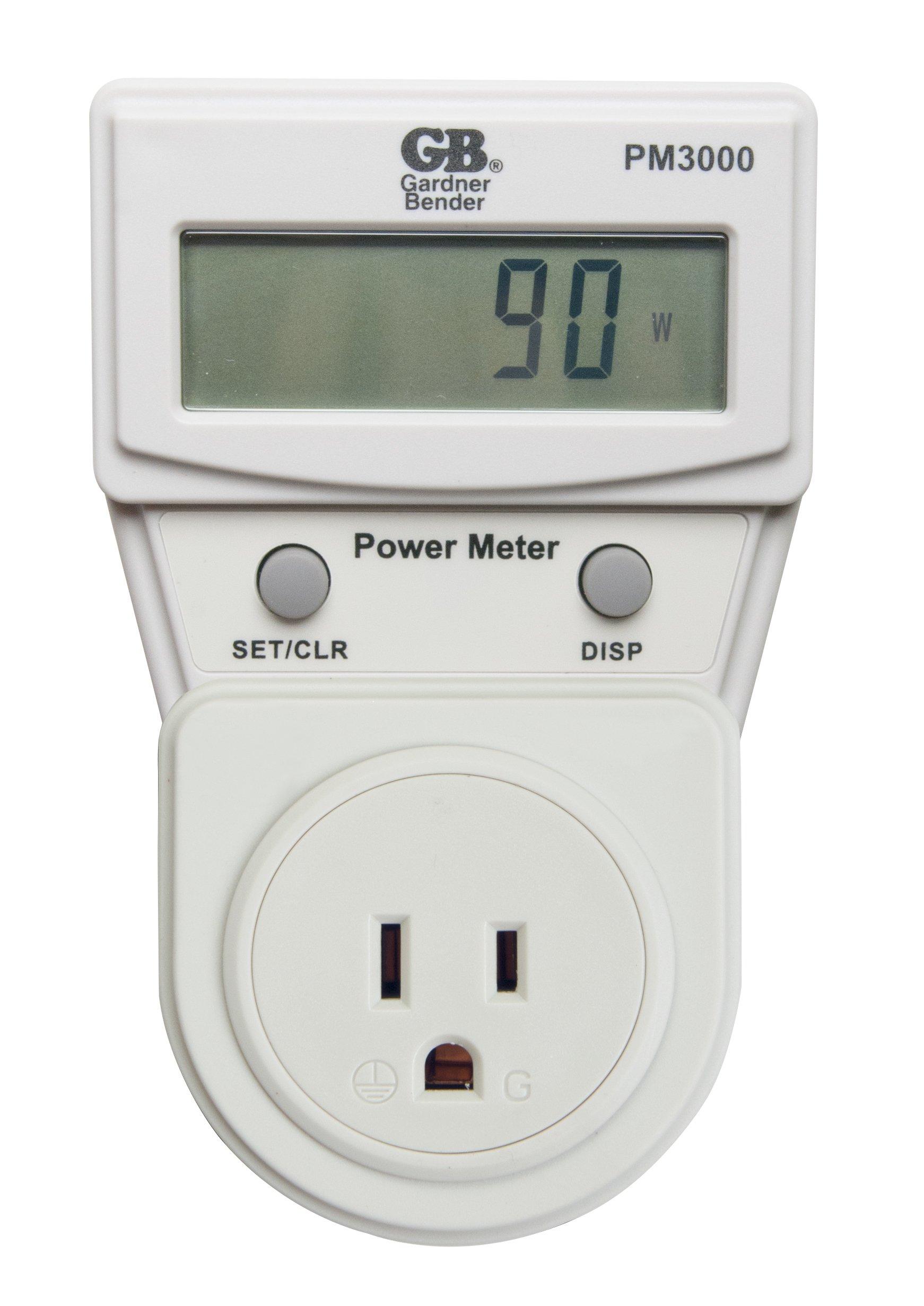 Gardner Bender PM3000 Gardner Bender Energy Power Meter Monitor, Grey