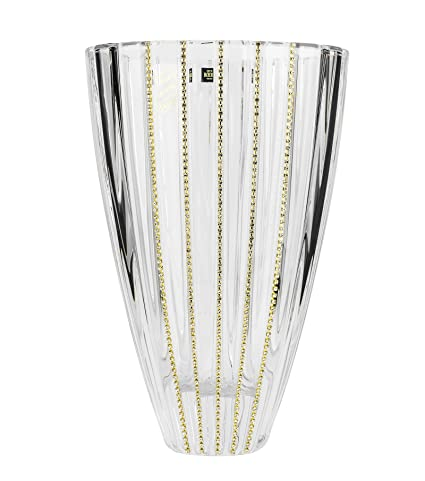 Amazon Victoria Bella 12 Inch Swarovski Jeweled Crystal Vase