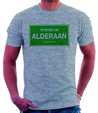 d7378447 Star Wars ALDERAAN POPULATION 0 Womens Short Sleeve T-Shirt (Small, Heather  Grey