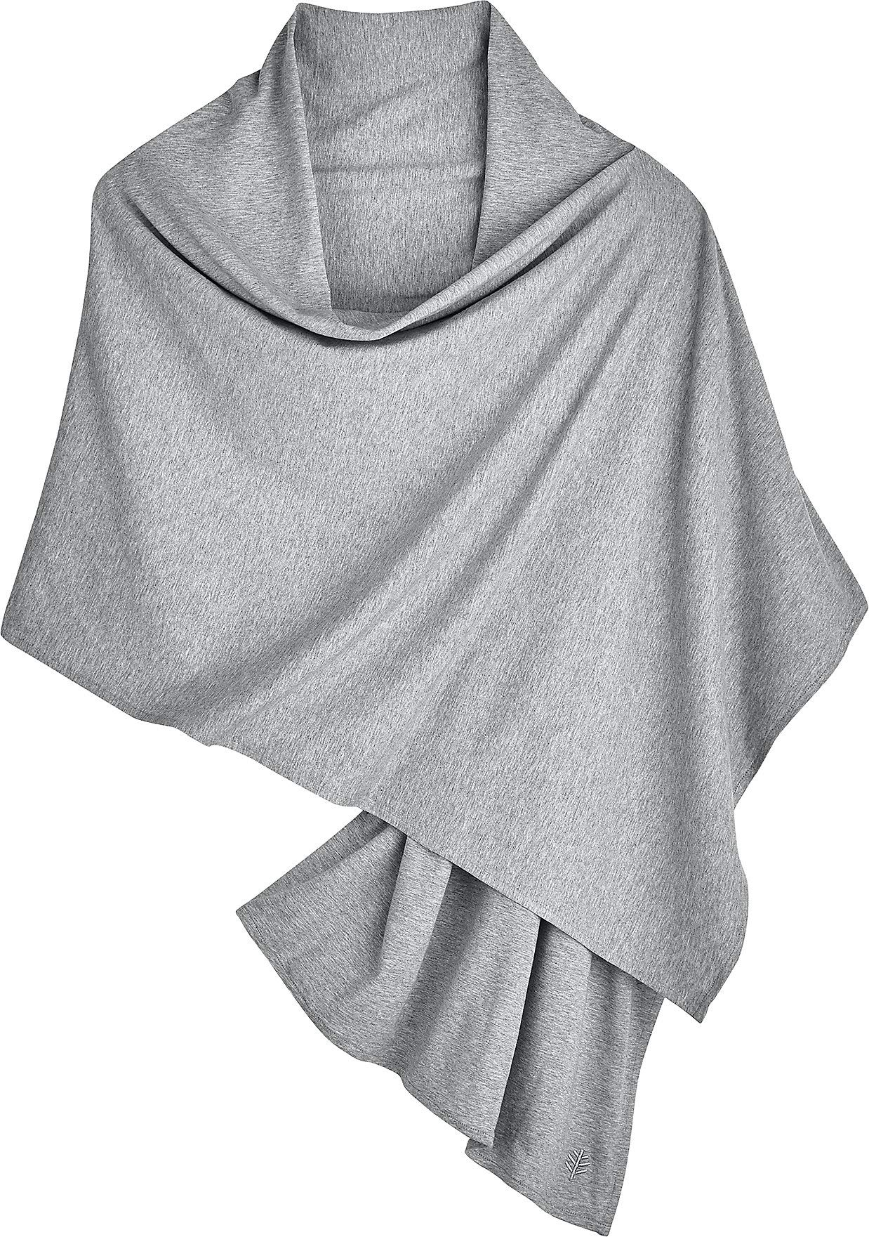 Coolibar UPF 50+ Women's Everyday Beach Shawl - Sun Protective (One Size- Grey Heather)