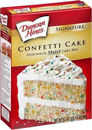 American Duncan Hines Confetti White Cake Mix 517g