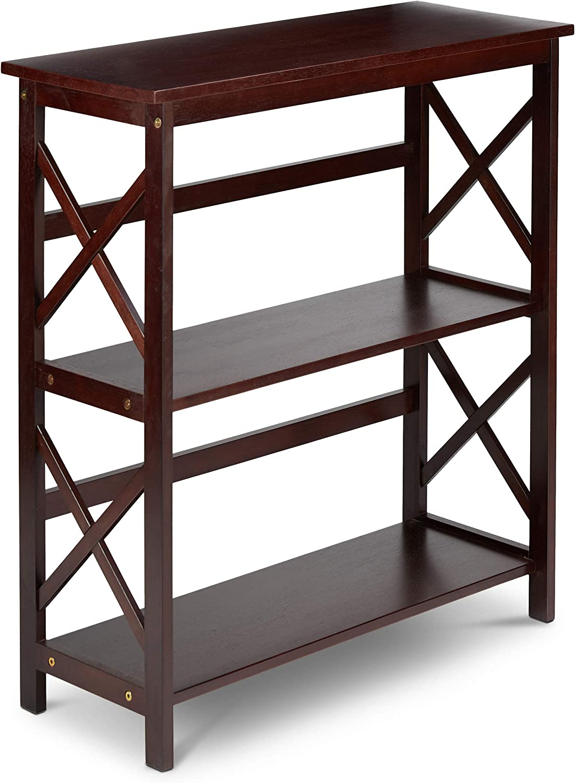 Civet Home 2 Tier Bookshelf, Bookcase, Espresso