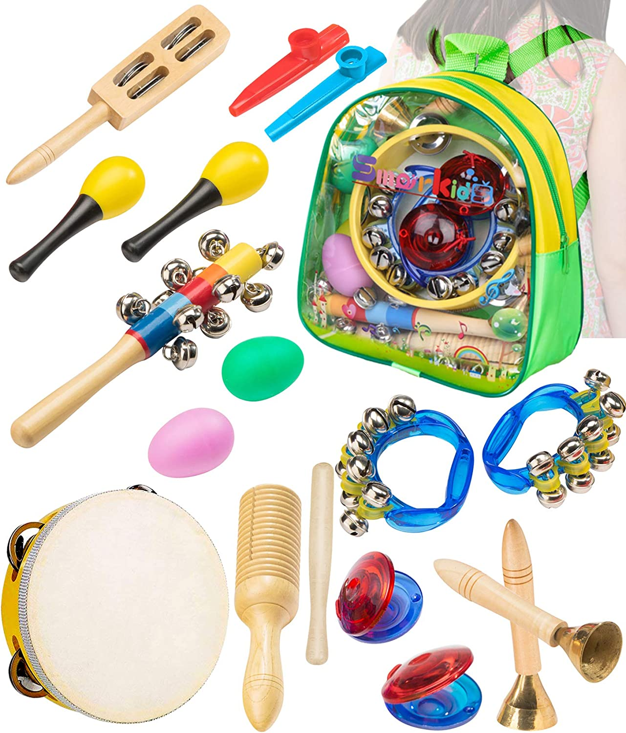 Smarkids Musical Instruments Toddler Toys Professional Preschool Music Education Toys Percussion Instruments Set Music Early Learning Toys Gifts for