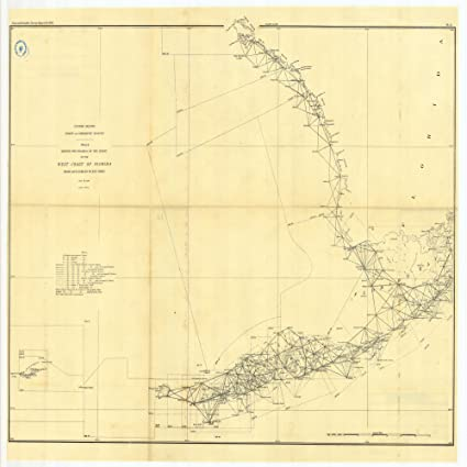 Amazon.com: Vintography 8 x 12 inch 1890 US Old Nautical map ...