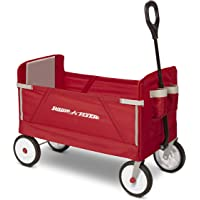 Radio Flyer 3-in-1 EZ Folding Wagon for kids and cargo (Renewed)