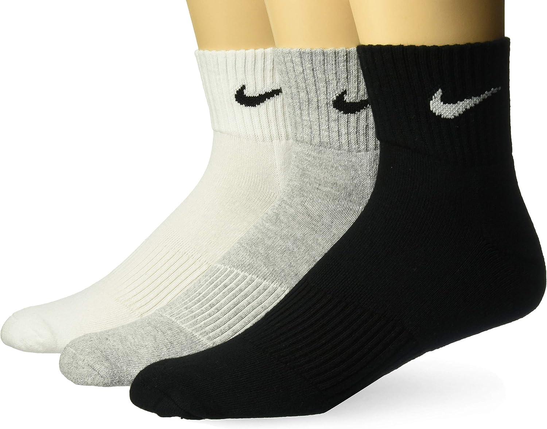 Nike Cushion Quarter Chaussettes Mixte adulte lot de 3