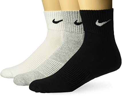 Sophie Cinco Gracias  NIKE Men's Cotton Calf Socks (Pack of 3) (SX4703-901_Grey/Black ...