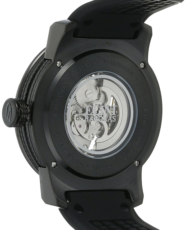 Amazon.com: Elini Barokas Men's ELINI-20025-BB-01 Spirit Analog Display  Automatic Self Wind Black Watch: Watches