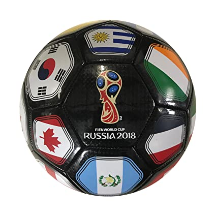Buy Fifa World Cup Russia 2018 Flag Ball Size 5 Black Online At Low Prices In India Amazon In