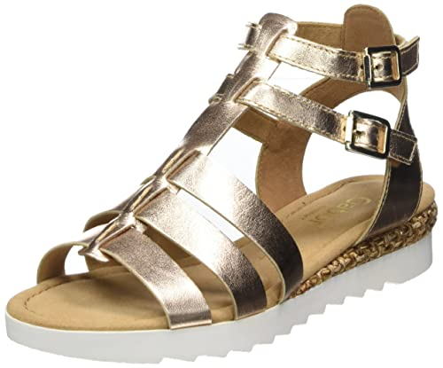 Women Comfort Sport Ankle Strap Sandals, Beige (Space Grata), 3.5 UK (36 EU) Gabor