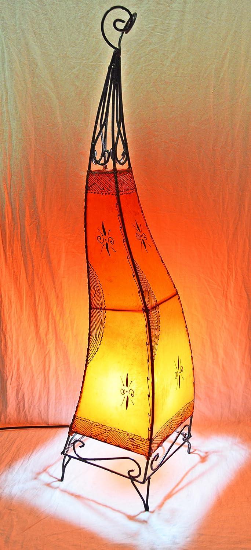 Orientalische Handbemalten Henna Stehlampe - 100cm - Orange