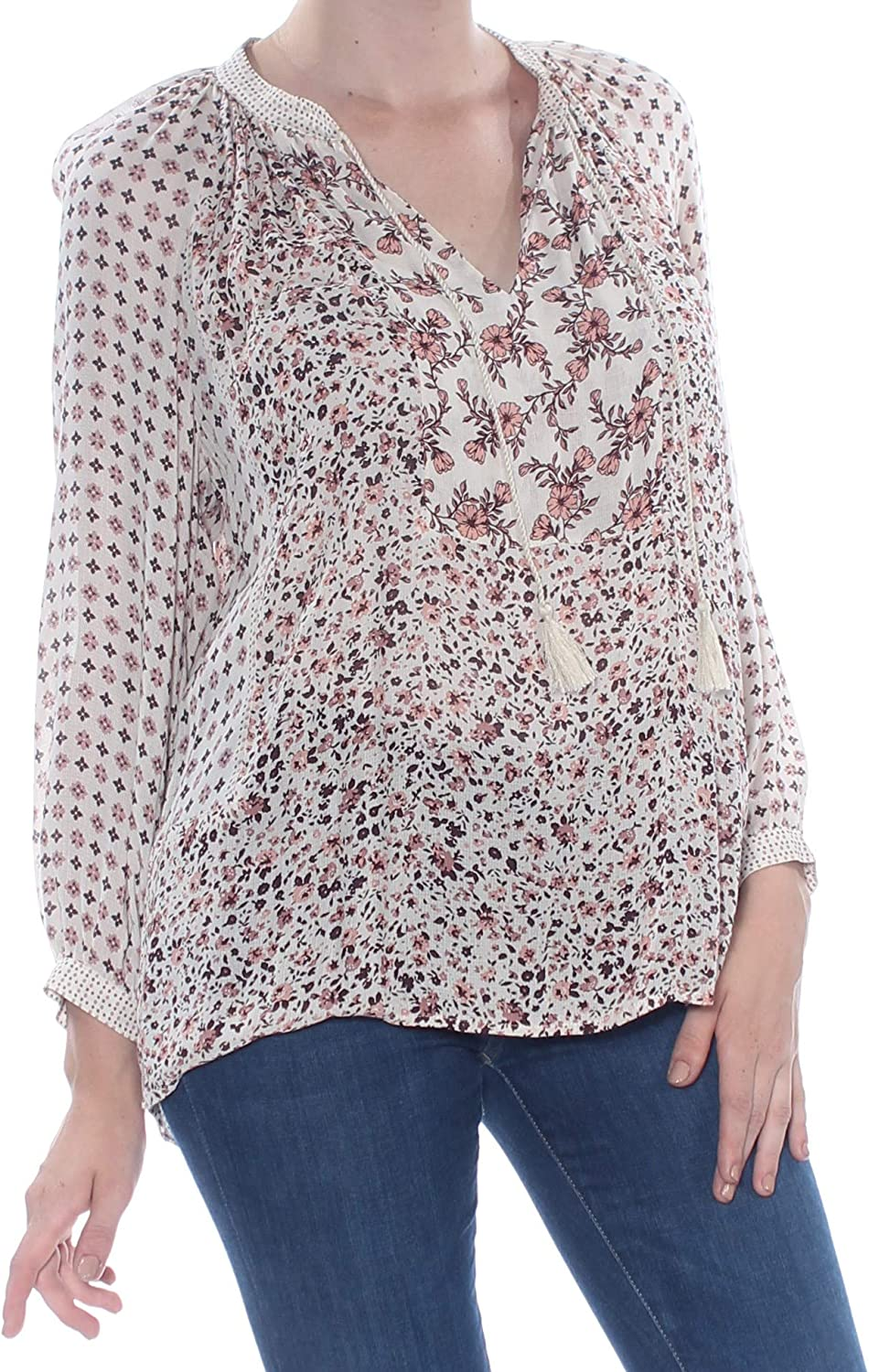 OFFicial shop Lucky Brand Women's Peasant Store Printed Top