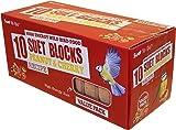 Suet to Go Wild Bird Peanut and Cherry Suet Block, 300 g - Pack of 10