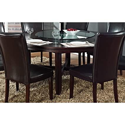 Amazon Com Greyson Living Hampton Dark Brown Cherry 72 Inch Round