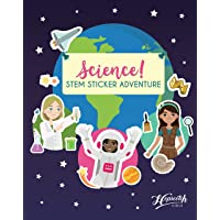 Science! STEM Sticker Adventure - Sticker Activity Book For Girls Aged 4 to 8 - Over 125 Stickers - Space Exploration…