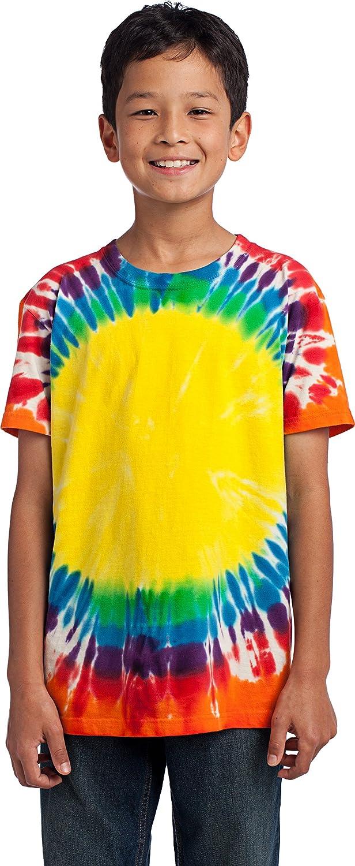 PC149Y-Rainbow Port /& Company-Youth Essential Window Tie-Dye Tee