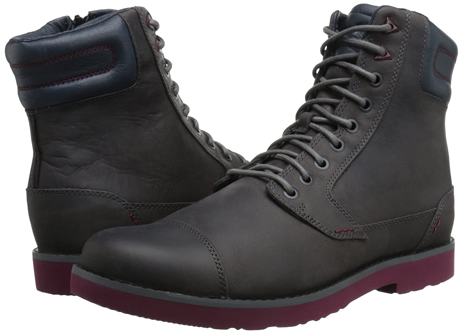 Teva M Mason Tall - Leather-M - Botines de Piel Hombre, Color Gris, Talla 47: Amazon.es: Zapatos y complementos