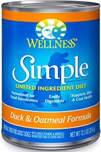 Wellness Simple Limited Ingredient Wet Dog Food, 12.5 Ounce Can (Pack of 12)