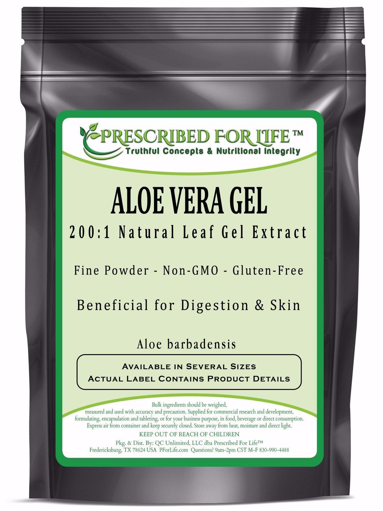 Aloe Vera - 200:1 Natural Leaf Gel Extract Powder (Aloe barbadensis), 55 lb
