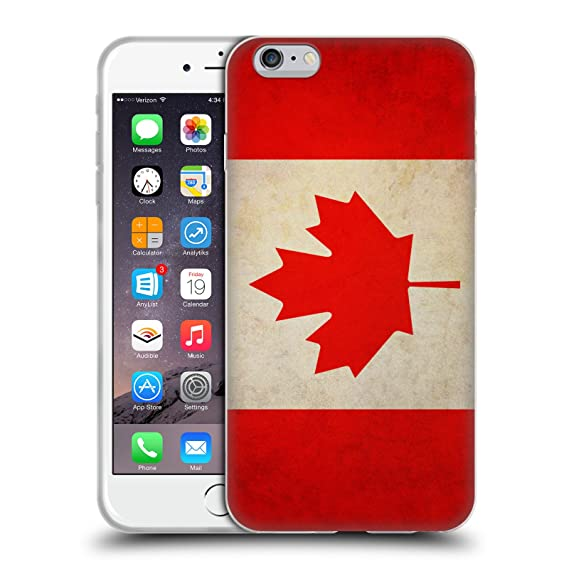 amazon com head case designs canada canadian vintage flags soft gel