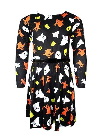 6f9886f32d6 Générique Filles à Manches Longues Robe Patineuse Neuf Enfants Halloween  Costume 5-13 Ans  Amazon.fr  Vêtements et accessoires