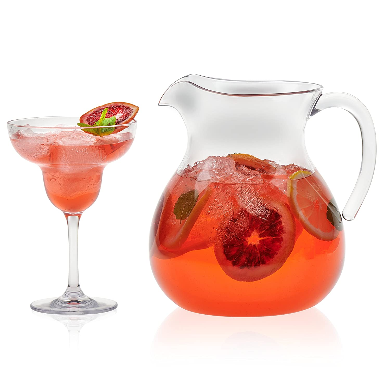 Libbey Indoors Out 7-piece Break-Resistant Margarita Entertaining Set Distributed by Libbey