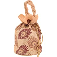 Craft Trade Women's traditional designer embroidery party wear potli Bags for Wedding