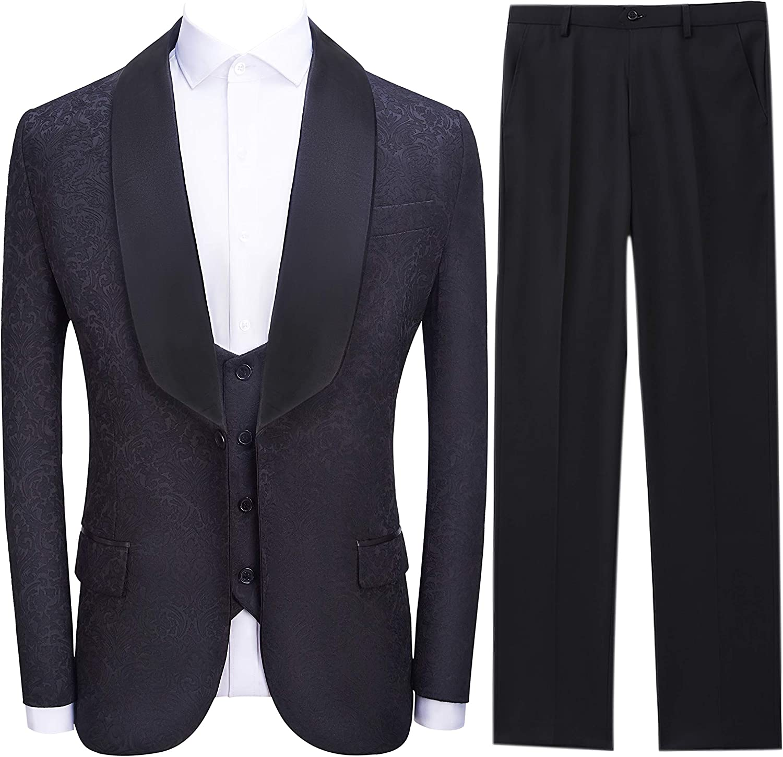 SELX Men Lapel 1 Button Business Skinny Solid Color Dress Blazer Jacket Suit Coat