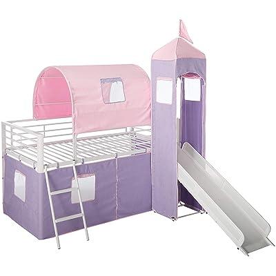 Buy Powell Princess Castle Twin Tent Bunk Bed With Slide Online In Jordan B079z3dp9b