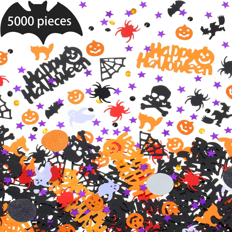 Halloween Party Metallic Pumpkin Spiders Star Table Confetti Decor 30g