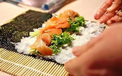 2 Sushi Rollmatte 5 Paar Essst/äbchen 1 Paddel 1 Spreader Sushi Bambusmatten und Utensilien Sushi Bastelset 9-teiliges Set Sushi Maker Kit inkl
